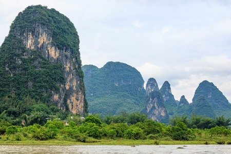 Karst peaks in Xingping Town and the Li River known as Lijiang River.