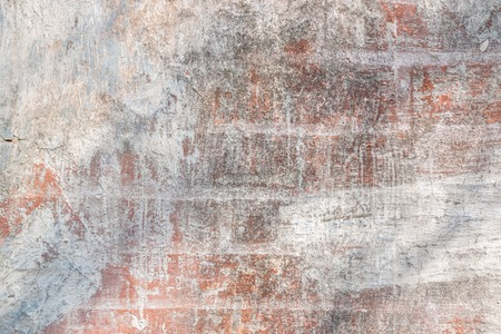 Texture background of old brick wall with white paint for mockup or design pattern in construction, food or industrial flat layer pattern sample layout