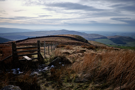 yorkshire dales: Style on a footpath on Barden Moor in the Yorkshire Dales