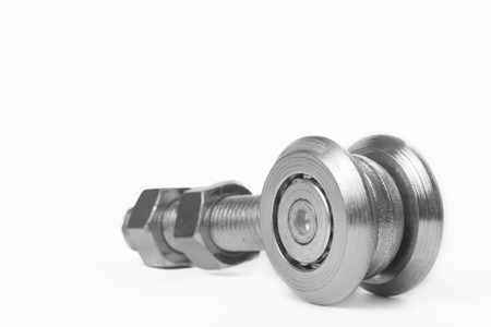 bearing: Bearing on white background for industrial use Stock Photo