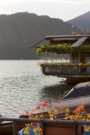 View of the Lake Como - Typical restaurant