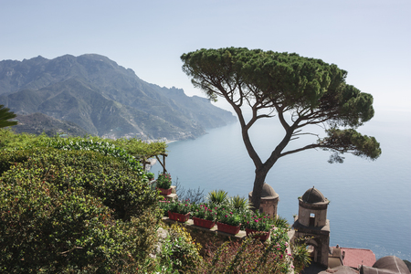 the Vista Amalfi Coast Overview from the gardens of Villa Rufolo to understand the concept of tourism and culture