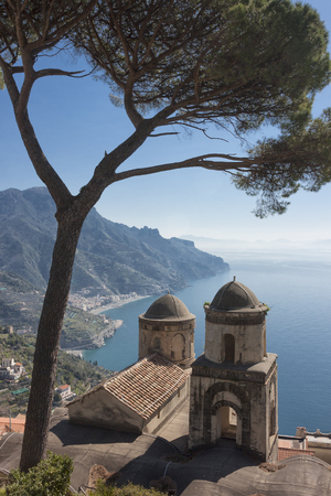 Fantastic view from Villa Rufolo, Ravello, Amalfi Coast, Campania, Italy to understand the concept of tourism and culture
