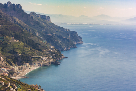 View of the Amalfi Coast, Italy, Europe to concept a tourism concept
