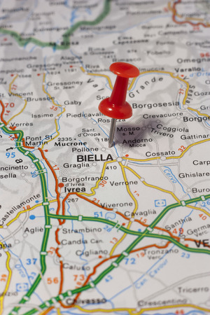 Road Map Of The City Of Cremona Italy Stock Photo Picture And