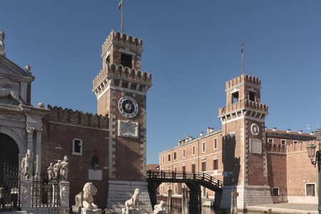 Military Arsenal Entry, July 21, 2017 Venice, Italy, concept of history and art