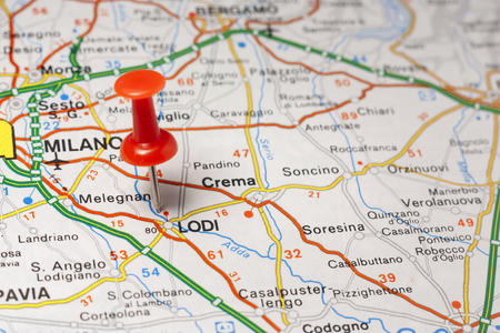 Road map of the city of Lodi Italy