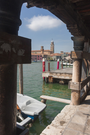 the merchant of venice: View of Murano, Venice, Italy to understand an architectural concept and tourist attraction Stock Photo