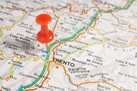 Road Map Of The City Of Rovigo Italy Stock Photo Picture And