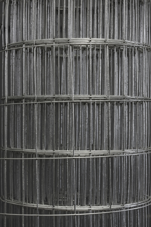 Close-up of a wire mesh to mean an industrial concept