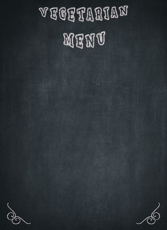 Vegetarian Menu written on a blackboard with a blue background to mean a concept to mean a concept