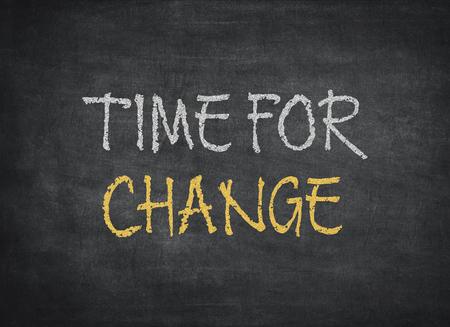 time for change on chalkboard background
