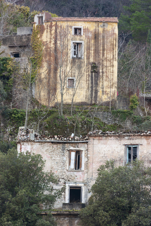 The Abandoned Village of Senerchia in Italy Destroyed by Earthquake