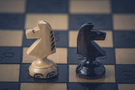 Chess business concept is on the chess board