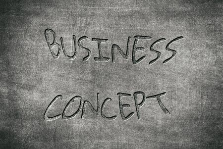 business concept written on a blackboard to mean a concept Stok Fotoğraf - 129483096