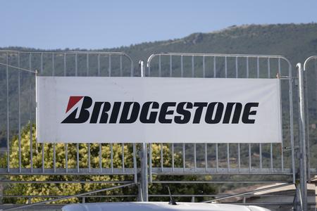Salerno, ITALY - June 29, 2019: Bridgestone advertising billboard to understand a concept Sajtókép