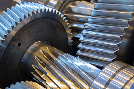 Gear reducer Stock Photo