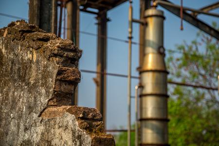 abandoned factory: Distillery abandoned Stock Photo