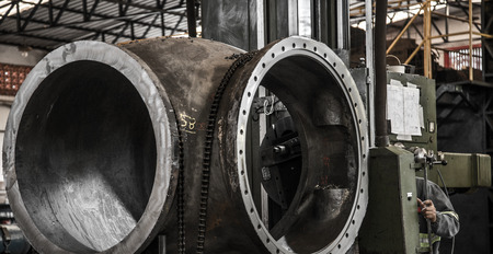 Industry lathe machine work 스톡 콘텐츠