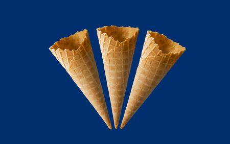 Ice cream cones pattern Foto de archivo