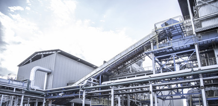 Industrial sugar conveyor production line factory cane bagasse 版權商用圖片