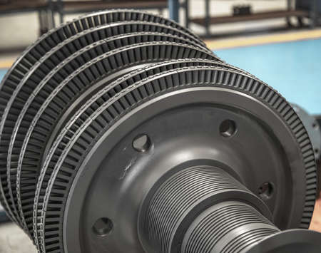 turbine rotor internal steel machine