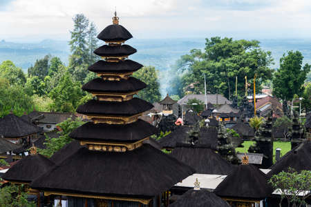 Besakih temple located in Karangasem regency.Grand complex of clan temples and shrines on the south-western slopes of Mount Agung. It is known as Bali's Mother Temple for more than a thousand years.
