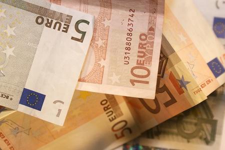 Euro, banknotes photo