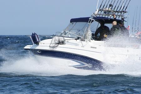 Boatrace, trollen. Stockfoto