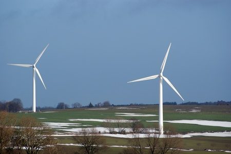 Landscape with two windturbines Stock Photo - 12556033