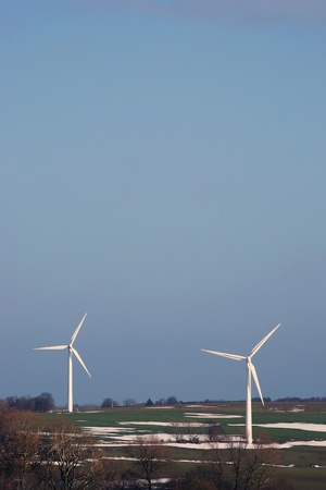 Landscape with two windturbines Stock Photo - 12556052