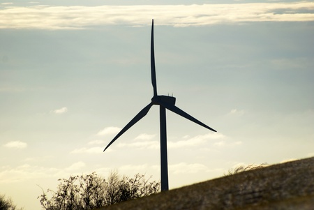 countrysides: Landscape with with wind turbine Stock Photo