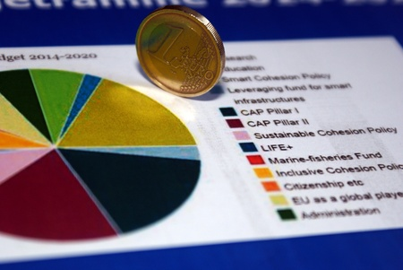 A Euro on the EU-budget for 2014-2020 Stock Photo - 12555963