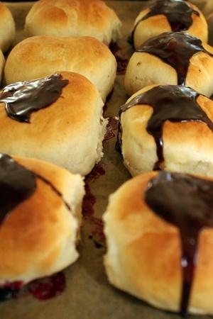 Homemade chocolate buns Stock Photo