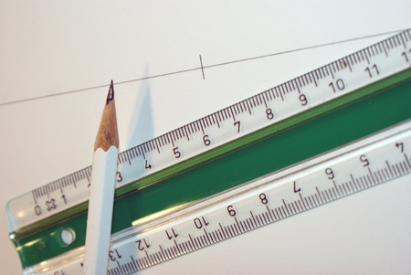 Ruler and pencil Stock Photo - 12636423