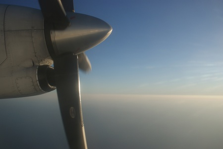 Propeller on turboprop aircraft Stock Photo