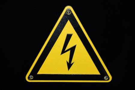 High voltage - black background Stock Photo