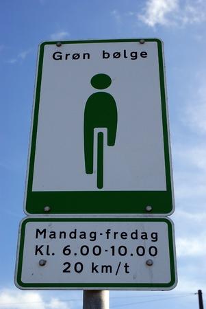 Street sign favouring bikes in Copenhagen
