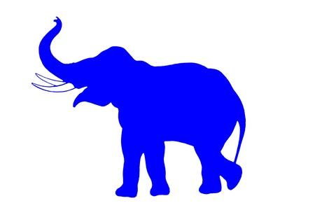 Blue elephant isolated