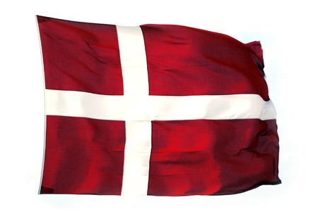Isolated Dannebrog, The Danish Flag Stock Photo