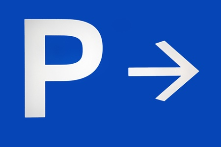 Parking turn right Stock Photo - 13522299