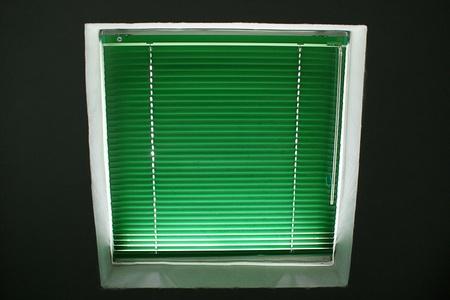 blinders: Green venetian blinders