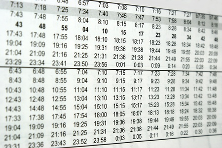Finding the right time on the bus schedule