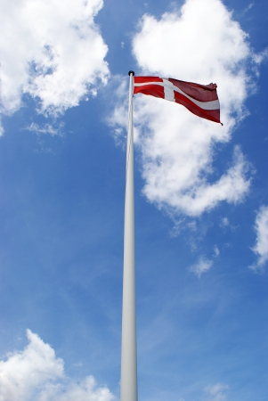 tilted view: Tilted view on Dannebrog - the Danish flag