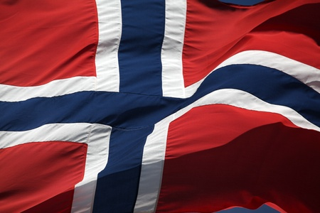 The Norwegian flag - 17th of May Stock Photo