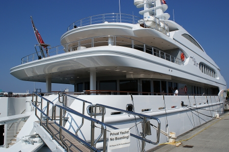 Big private luxurios yacht