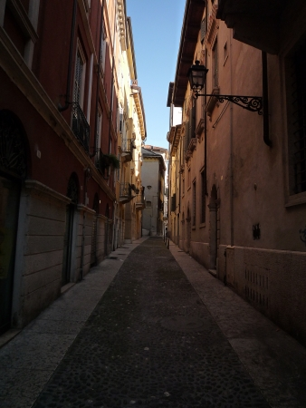 Small street of Verona photo