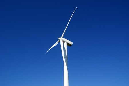 vestas: Scandinavian windturbine against blue sky