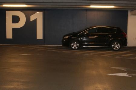 Basement parking photo