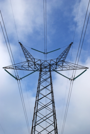 cabling: High voltage power lines at cabling tower